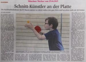Presseartikel des Münchner Merkurs (25.04.2015)